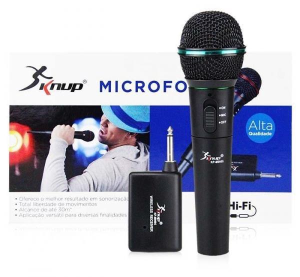 Microfone Sem Fio Profissional - KP-M0005 - Knup