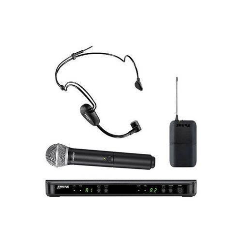 Microfone Sem Fio Shure Duplo Mao/Cabeca Blx 1288br/Pg30
