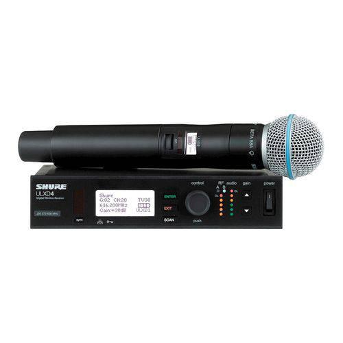 Microfone Sem Fio SHURE ULXD 24 Beta 58