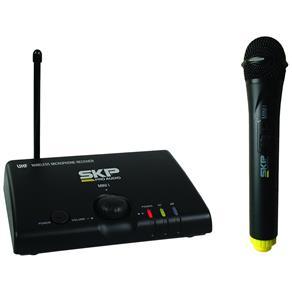 Microfone Sem Fio SKP Mini-I UHF de Mão Distância Máxima de Operação 50 Metros
