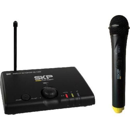 Microfone Sem Fio Uhf de Mão Mini-i Distância Máxima de Operação 50 Metros Skp