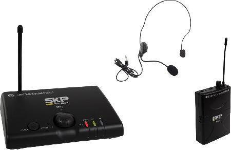 Microfone Sem Fio Uhf Headset Mini-v SKP