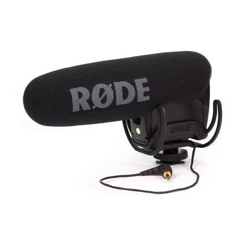 Microfone Shotgun Profissional com Suspensão Rycote para Câmeras e Gravadores   Rode   Videomic Pro