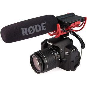 Microfone Shotgun Rode Videomic com Sistema de Suspensão Rycote Lyre