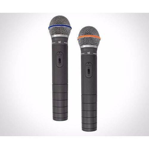 Microfone Tsi Sem Fio Duplo Mão Ms-420 Vhf
