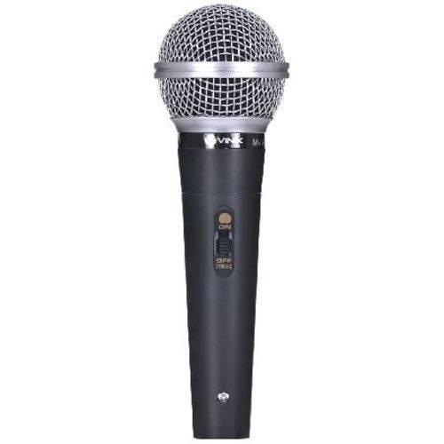 Microfone Vocal Vinik com Fio Mv-60 Preto
