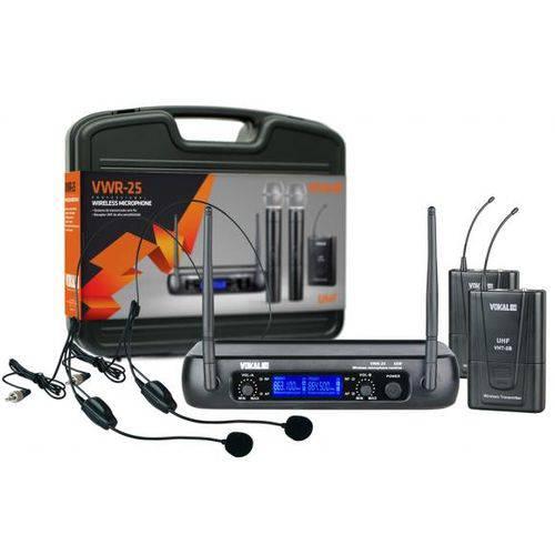 Microfone Vokal Headset Uhf Modelo Vwr 25