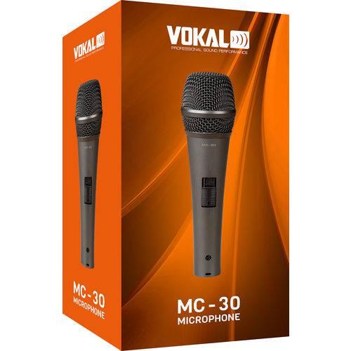 Microfone Vokal MC-30 com Cabo e Cachimbo