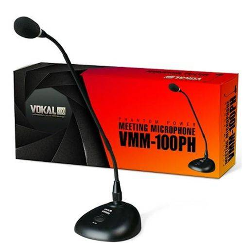 Microfone Vokal VMM 100PH de Mesa Condensador Phanton Power