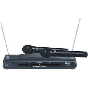 Microfone Wireless Ld-2002 Fm Duplo Preto Loud