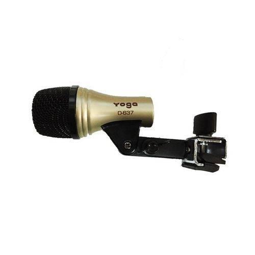 Microfone Yoga D-637 Instrumentos Percussão Bateria Tom D637 D-Series