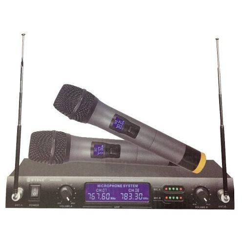 2 Microfones Receptor Uhf Qualidade Som Profissional 4000