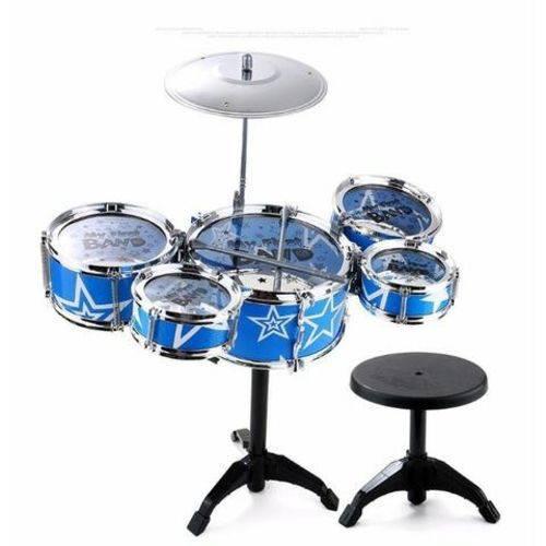 Mini Bateria Musical Infantil 5 Tambores com Banco - Jazz Drum