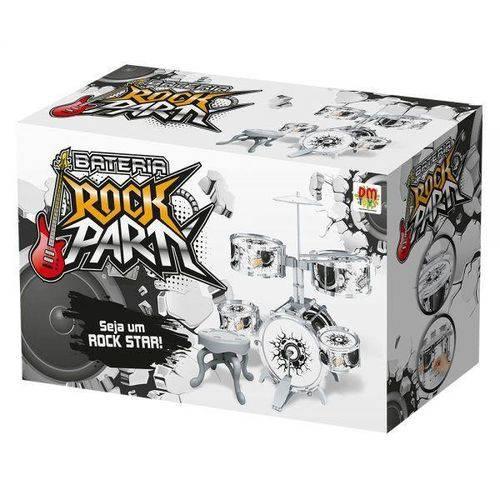 Mini Bateria Musical Infantil Rock Party DmToys