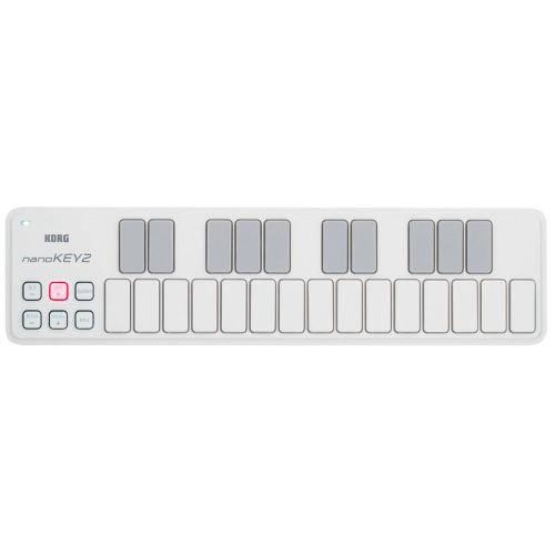 Mini Controlador Usb de 25 Teclas Korg Nanokey 2 Branco