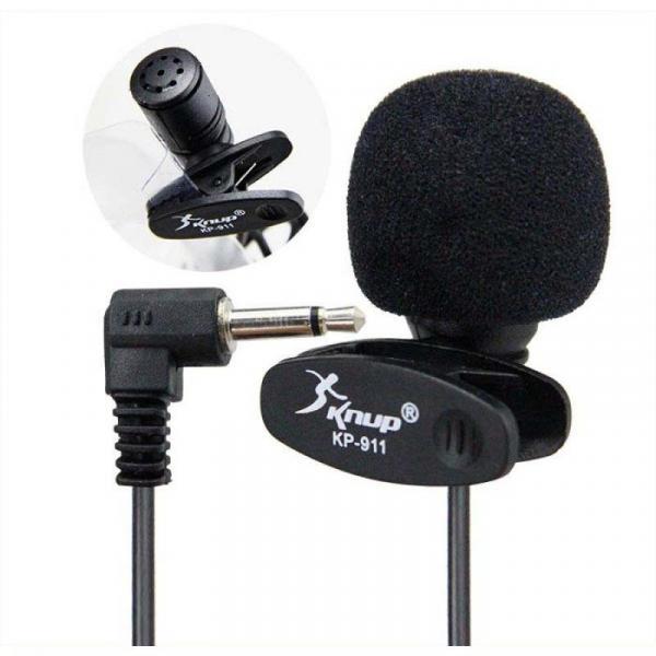 Mini Microfone de Lapela KP 911 - Knup