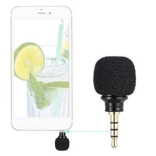 Mini Microfone Estéreo Sem Fio Celular Câmeras Gravador