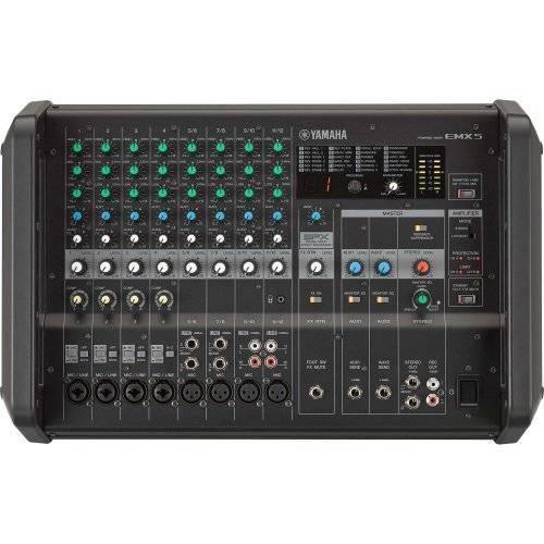 Mixer Analógico Amplificado EMX5 Preto Yamaha