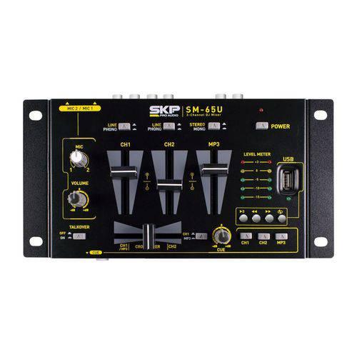 Mixer 3 Canais com Mp3 Player Sm 65u Skp 220v