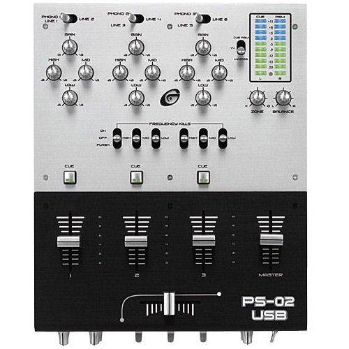Mixer DJ 3 Canais C/ 2 Saidas USB - Gemini