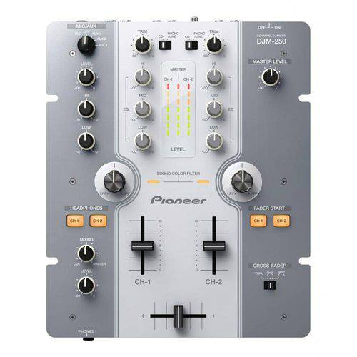 Mixer Dois Canais Pioneer Djm 250 Branco