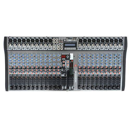 Mixer K2 Áudio 24 Canais com USB e Interface Km-2406 USB