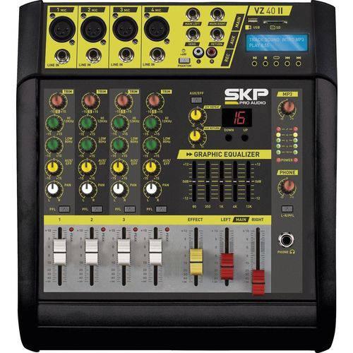 Mixer Mesa de Som Amplificada Skp 4 Canais Vz-40ii Mp3 1600w