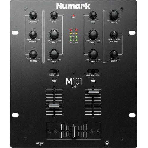 Mixer Numark M101 Usb, 2 Canais - Black, Bivolt