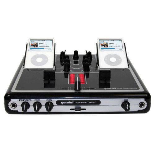 Mixer para Ipod Gemini Itrax Saída Rca Preto