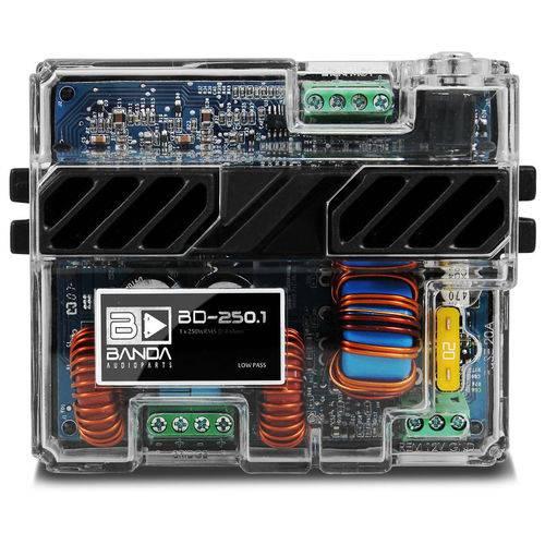Módulo Amplificador Banda Bd250.1 250w Rms 1 Canal 4 Ohms