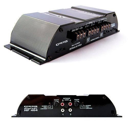 Módulo Amplificador Corzus HF404 400w Rms 2 Ohms 4 Canais Digital