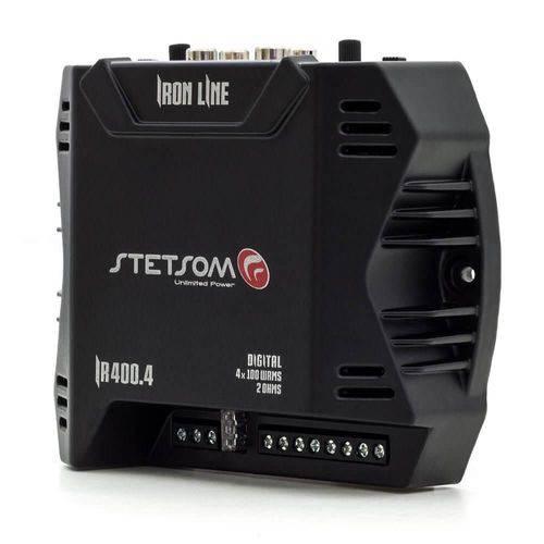 Módulo Amplificador Digital Stetsom Iron Line Ir 400.4 Canais - 400 Watts Rms