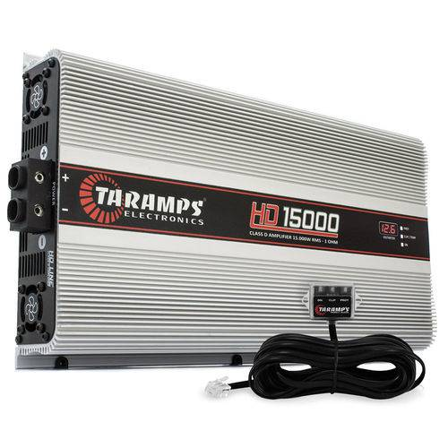 Módulo Amplificador Digital Taramps Hd 15000 - 1 Canal - 18000 Watts Rms com Volímetro