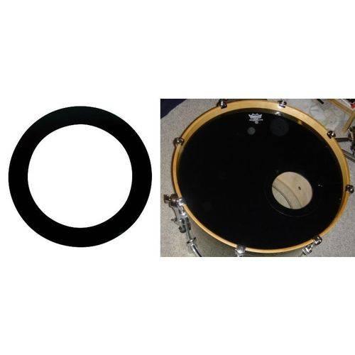 Molde para Fazer Furo no Bumbo Remo Dynamo Black 5.5¨ Proteja o Furo do Bumbo Contra Rasgos