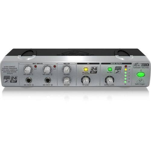 Multi Processador Karaoke Mini MIX800 2 Canais Efeitos Voice Canceller Echo e Reverb - Behringer