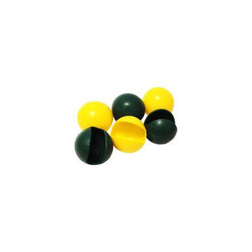 Nariz de Palhaço Amarelo e Verde - Pacote com 20 Unidades