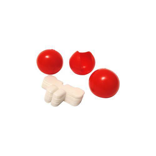 Nariz e Dente de Palhaço Colorido - Pacote com 12 Unidades