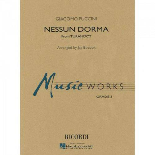Nessun Dorma no One Sleeps Score Parts Essencial Elements