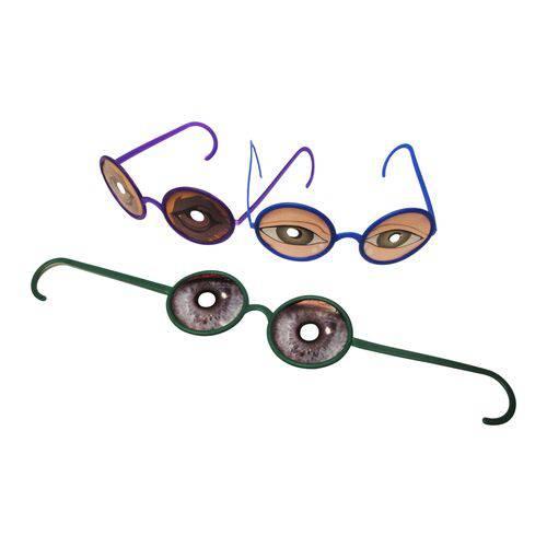 Óculos Maluco Colorido com Impresso - Pacote com 6 Unidades