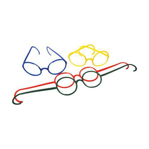 Óculos Maluco Colorido - Pacote com 8 Unidades