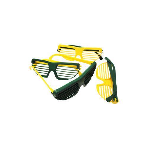 Óculos Persiana Amarelo e Verde - Pacote com 6 Unidades