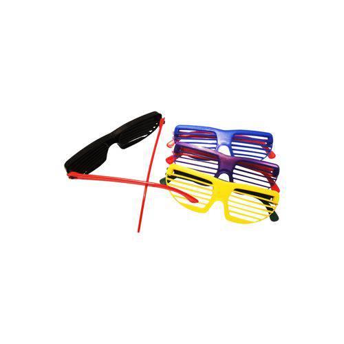 Óculos Persiana Colorido - Pacote com 6 Unidades