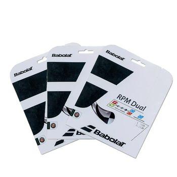 Pack com 3 Cordas RPM Dual 125 17 Babolat Cinza