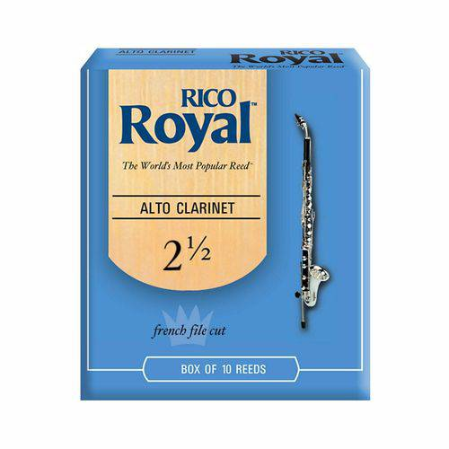 Palheta P/ Clarone Alto Rico Royal #2.5 (cx C/ 10 Un)