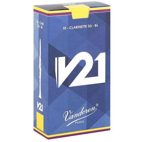 Palheta para Clarinete Bb - Si Bemol Vandoren V21 #2 1/2 #2200-160-12-V21