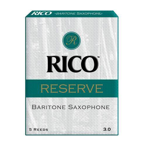 Palheta para Sax Baritono Rico Reserve Nº 3 RLR0530 Caixa com 5