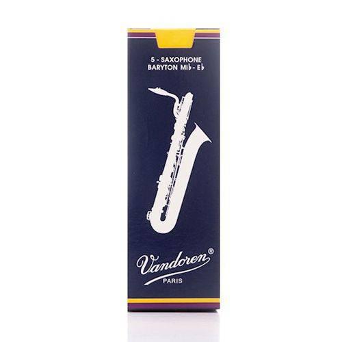 Palheta para Saxofone Baritono Vandoren Tradicional #2 #2130-150-12-S