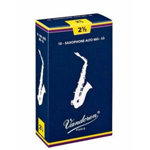 Palheta Vandoren V12 Nº 2,5 para Sax Alto