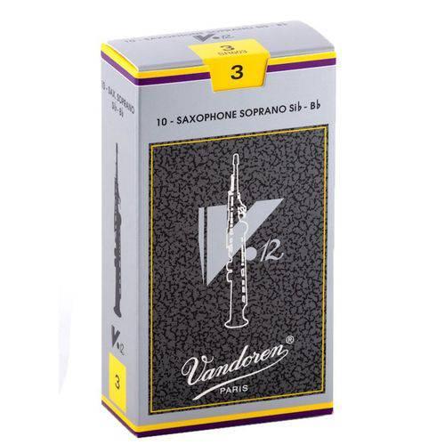 Palheta Vandoren V12 3 para Sax Soprano Caixa com 10