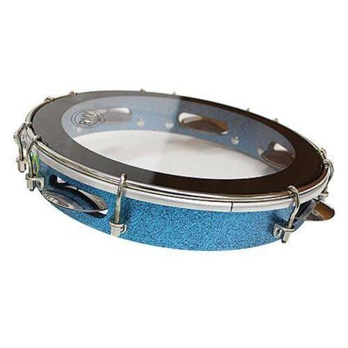 Pandeiro 10 Linha Sparkle Madeira Azul Ptpa00148